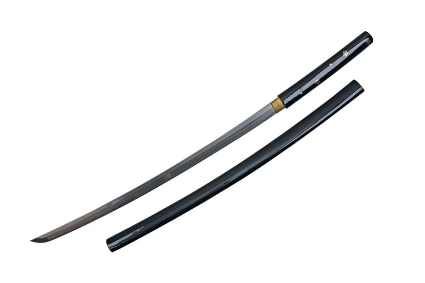HAMDMADE -inch The Black Lotus-inch KB SWORD WITH STAND