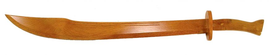 "34 1/2"" Large Chinese Wooden Broadsword"