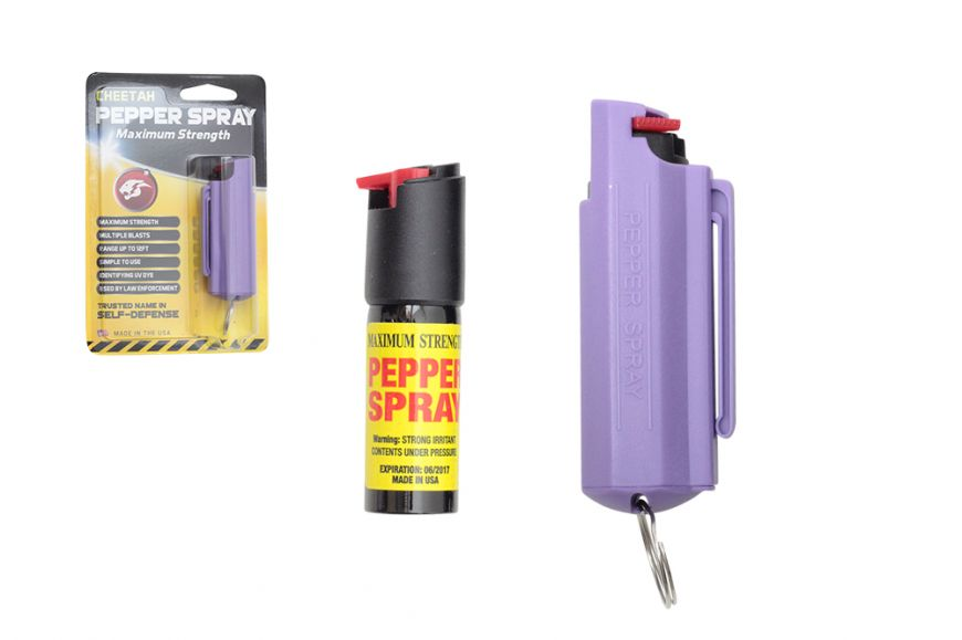 PEPPER SPRAY HARD CELL HOLSTER PURPLE