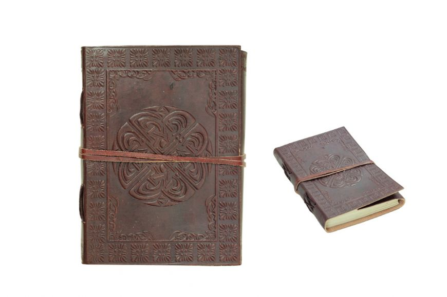 "7""x5"" Celtic Cross Leather Journal with String Discontinued- once sell out"