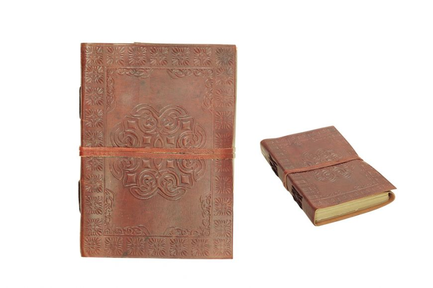 "7""x5"" Celtic Cross Leather Journal with Embossed Design Discontinued- once sell out"