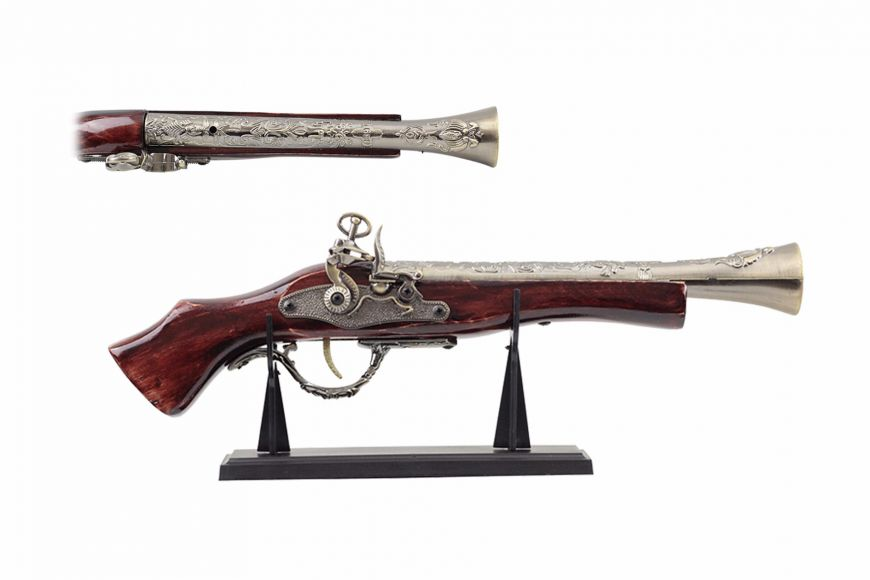 "16"" Antique Gun Replica w/ Display"