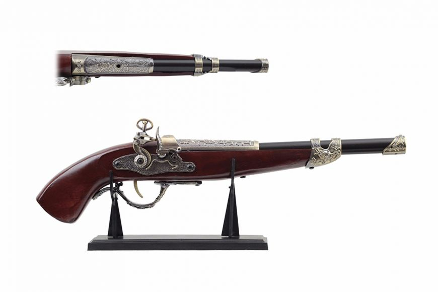 "18"" Antique Gun Replica w/ Display"
