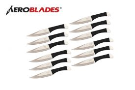 9-inch 12PCS THROWING KNIFE BLACK COLOR