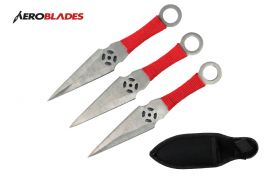 6.5 inch 3pc set chrome Kunai  throwing knife