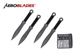 7.5-inch 4 pcs set stonewashed throwing knife