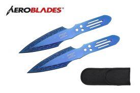 9-inch 2pc Set Blue Blade Thrower