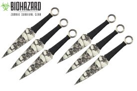 9 6pcs set zombie throwing knife-inch
