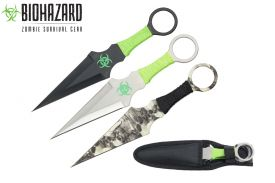 9-inch 3pcs set zombie throwing knife