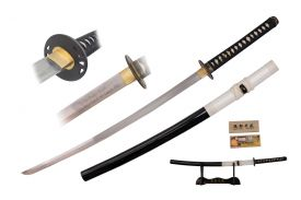 42-inch 1045 Carbon Steel, Black &White Scabbard, Cleaning Kit