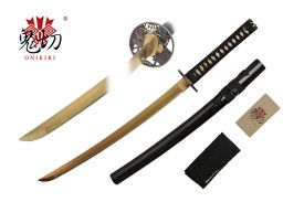 32-inch Length, 1045 Gold Carbon Steel Blade, Ray SKin Wrapped Handle, Sword Bag, Certificate