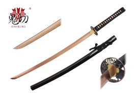 41.5-inch Length, 1045 Rose Gold Carbon Steel Blade, Ray SKin Wrapped Handle, Sword Bag, Certificate