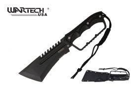15.5-inch Equlizar Hunting Machete Black Knuckle Handle