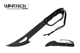 20.5-inch Equlizar Hunting Machete Black Knuckle Handle