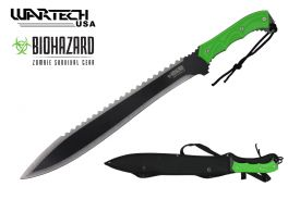 25 overall zombie machete with nylon sheath-inch