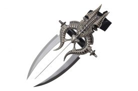 "15"" Wrist Mounted Triple Blade Knife With Wrist Band"