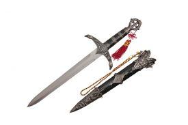 """18 3/4"""" Robin Hood Silver Dagger"""