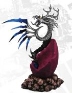 """9.5"""" Multi-Bladed Dragon Dagger With Dragon Egg Display Stand"""