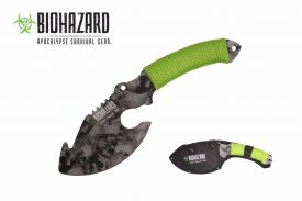 11-inch grey skull axe with paracord wrapped handle