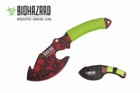 11-inch red skull axe with paracord wrapped handle