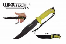 13-inch BK-YL Color Change Handle Hunting Knife.