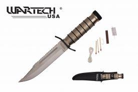 9.5-inch Silver Survival Knife w  Survival Kit
