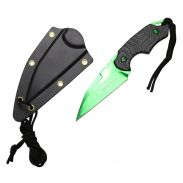 6-inch Green Blade Knife w  Paracord and Sheath