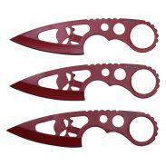4.5-inch Red Blade Knife w  Skull