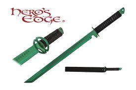 27-inch 440 Stainless Steel Green Blade Sword w  Sheath