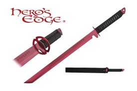 27-inch 440 Stainless Steel Red Blade Sword w  Sheath