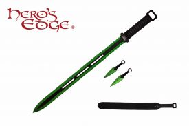 28-inch & 5-inch 440 Stainless 2 Tone Blade Sword w  Sheath