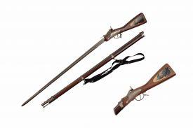 "42"" Rifle Sword, Includes Scabbard & Shoulder Strap"