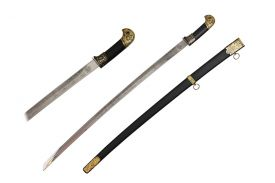 "37 3/8"" Russian Officer Sword w/ Scabbard (Black)"