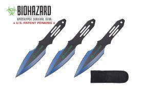 6.5-inch 3pc Set Blue   Black Blade Thrower