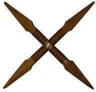 """26"""" Wood Cross Sword"""