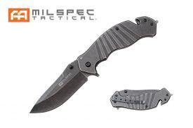 """8"""" Straight Back Stonewashed Milspec Knife"""