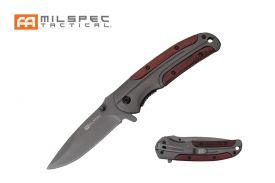 "8.25"" Straight Back Titanium and Wood Milspec Knife"