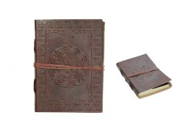 """7""""x5"""" Celtic Cross Leather Journal with String Discontinued- once sell out"""