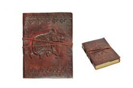 """7""""x5"""" Elephant Leather Journal with String Discontinued- once sell out"""