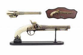 "12"" Antique Gun Replica w/ Display"