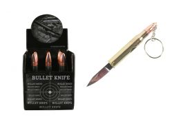 12 Pcs. 30.06 Gold Bullet Knives w/ Keychain
