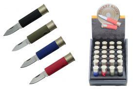 "4 1/8"" 24 Pcs. Assorted Shotgun Shell Knives"