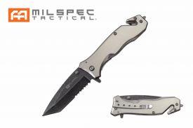 "8"" Titanium Coated Pocket Knife (Silver)"