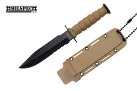 6 knife 3.5 black blade yellow handle w  yl case-inch