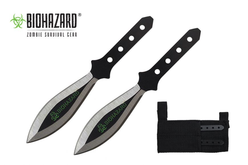 5.5-inch Length, 2pc. Stainless Steel Throwing Knive Set