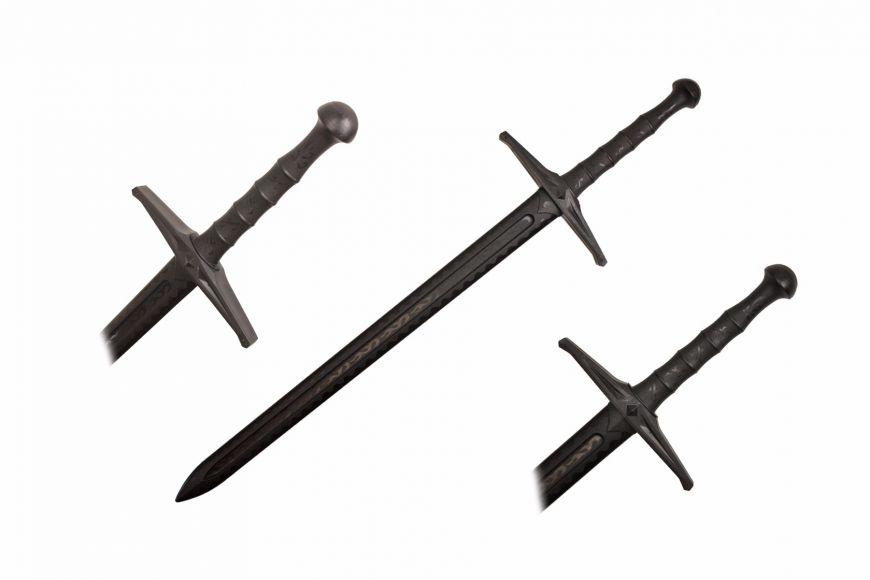 42-inch Black Polypropylene Medieval Sword