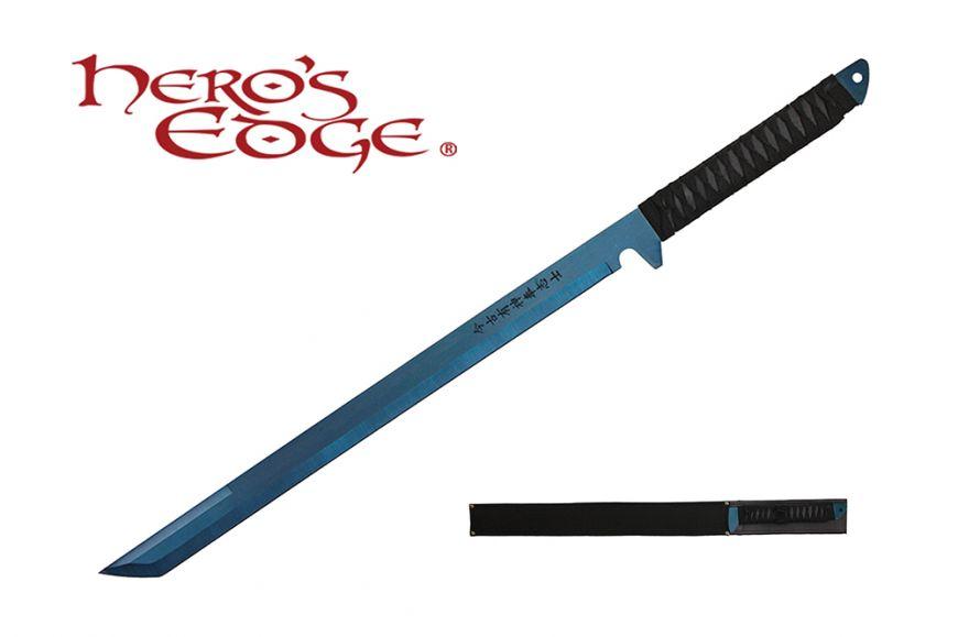 27-inch 440 Stainlees Steel Blue Blade Sword w  Sheath