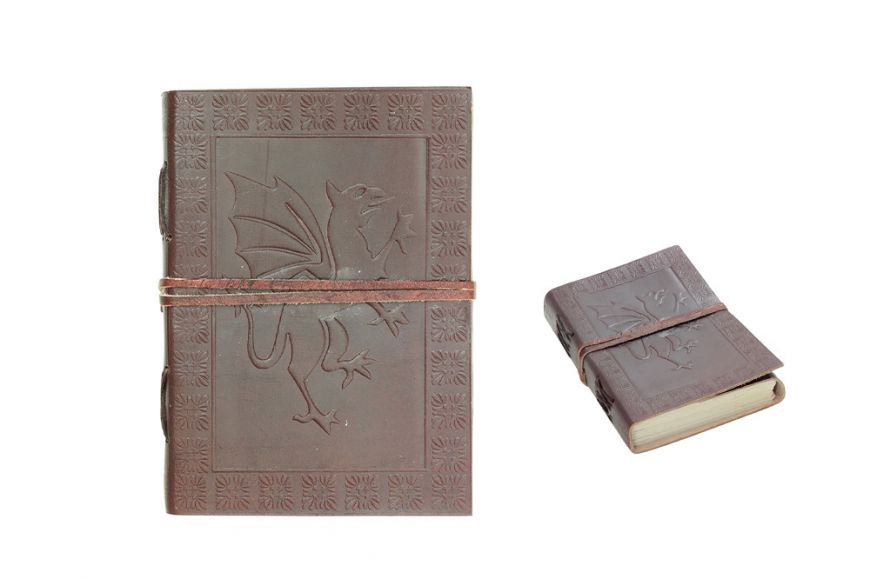 "7""x5"" Dragon Leather Journal with String Discontinued- once sell out"