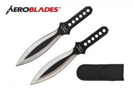 7.5 Inches 2PCS SET SILVER WINGS Throwing knives