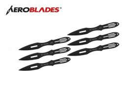 9 6PCS BLACK THROWING KNIFE-inch